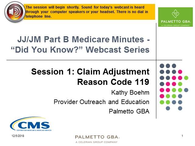 Medicare adjustment reason codes 2018