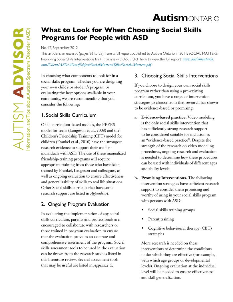 Autism Ontario | Content Gateway
